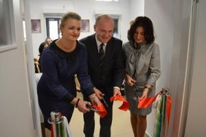 Senior Wigor Otwarcie (1) - Marta Giezek - dyr MOPR Szczecin, Piotr Krzystek - Prezydent Szczecin, Joanna Łaskarzewska - Dyrektor PCK